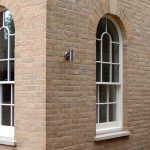 sash windows with rounded tops