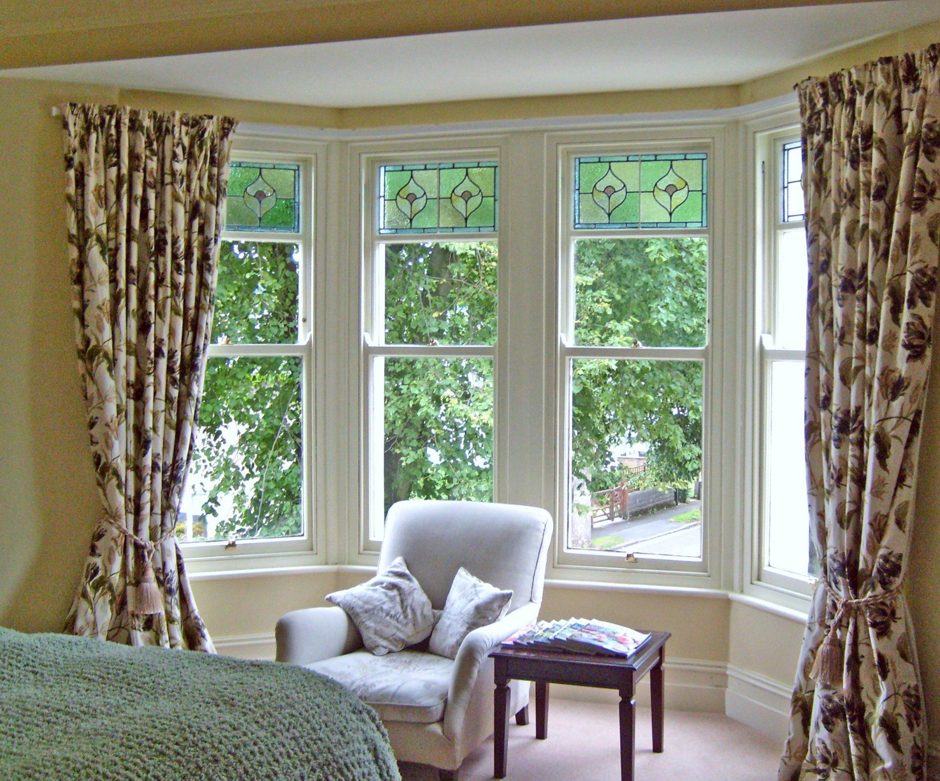 large bay sash windows
