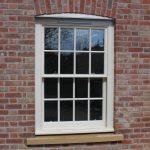 white sash window repaired