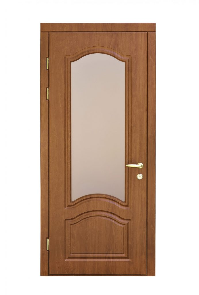brown door glass insert