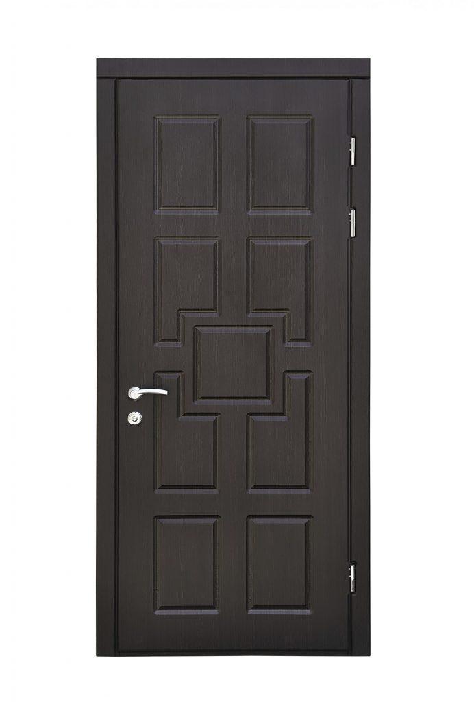 dark grey door