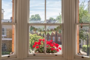Sash window needing repairs